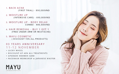Promotion Mayu Japanese Spa